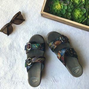 Dansko Shoes - Dansko Sophie multi color snakeskin buckle sandal